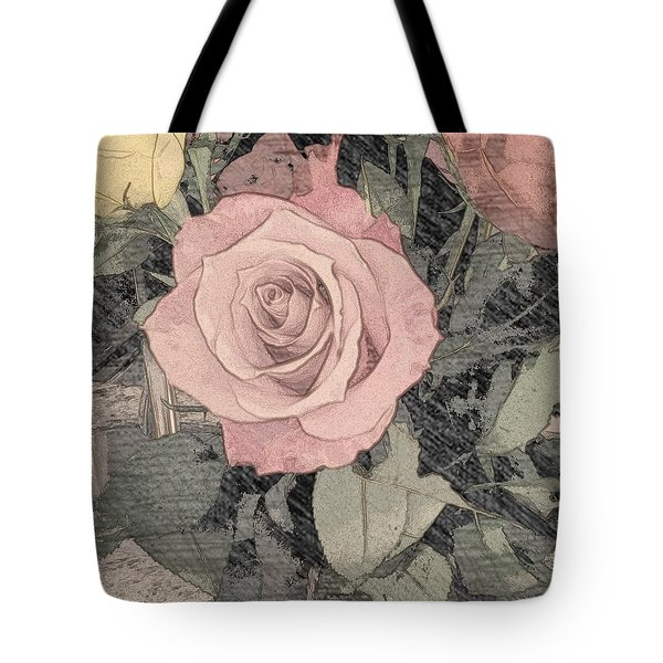 Vintage Romance Rose Tote Bag