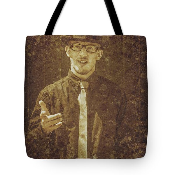 Vintage Salesman Tote Bag
