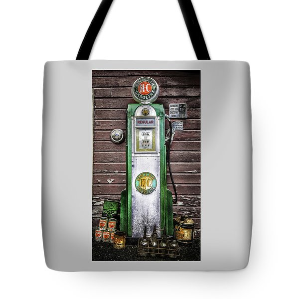 Vintage Sinclair Gas Pump Tote Bag
