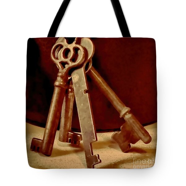 Vintage Skeleton Keys I Tote Bag