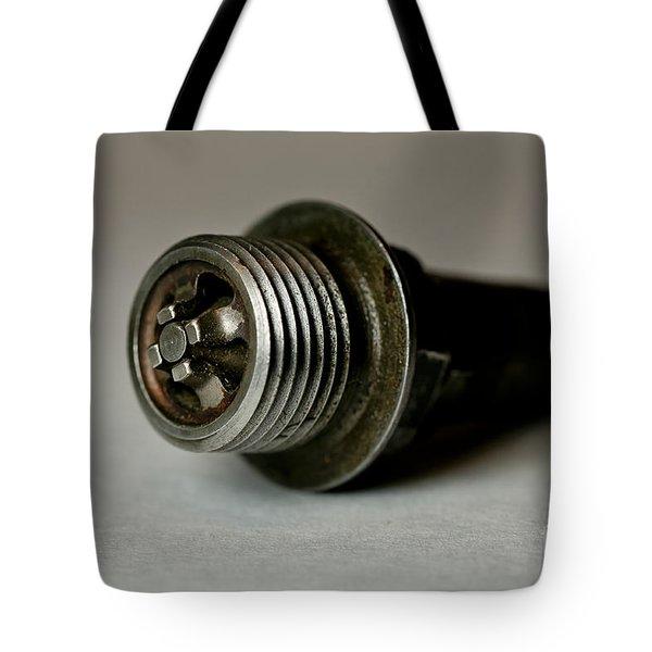 Vintage Spark Plug  Tote Bag by Wilma  Birdwell