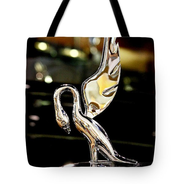 Vintage Swan Packard Hood Ornament Car Fine Art Photography Print  Tote Bag by Jerry Cowart