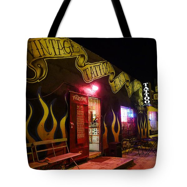 Vintage Tattoo Parlour Tote Bag by Nina Prommer