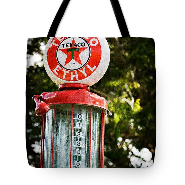 Vintage Texaco Gas Pump Tote Bag
