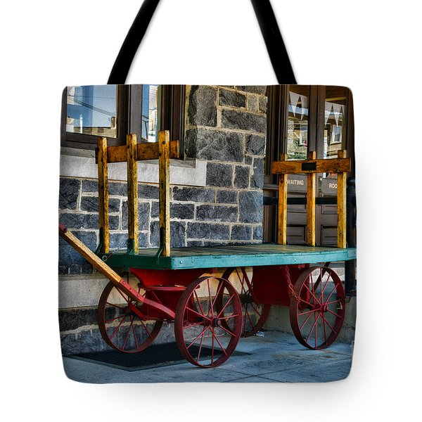 Vintage Train Baggage Wagon Tote Bag by Paul Ward
