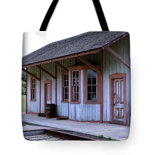 Vintage Train Station Tote Bag
