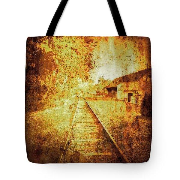 Vintage  Railway Portland Pa Usa Tote Bag
