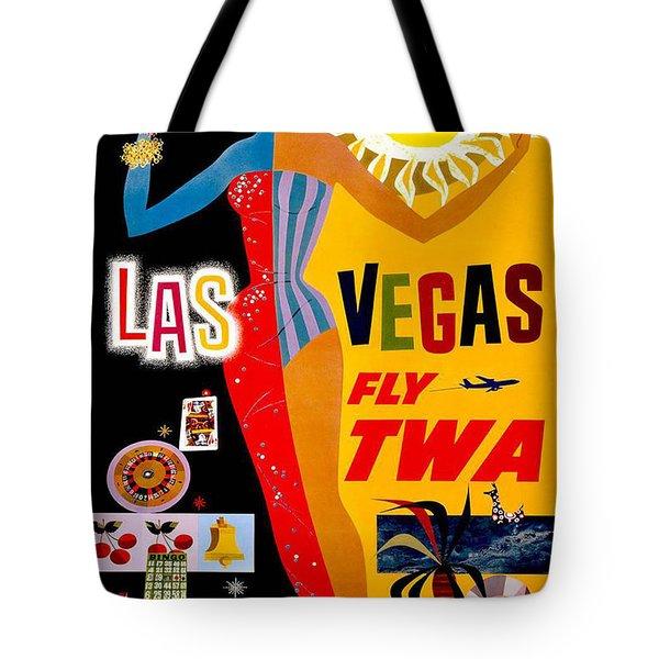 Vintage Travel Poster - Las Vegas Tote Bag