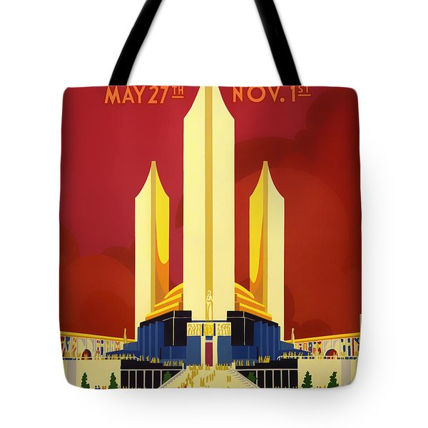 Vintage Travel Poster - Chicago World's Fair 1933 Tote Bag