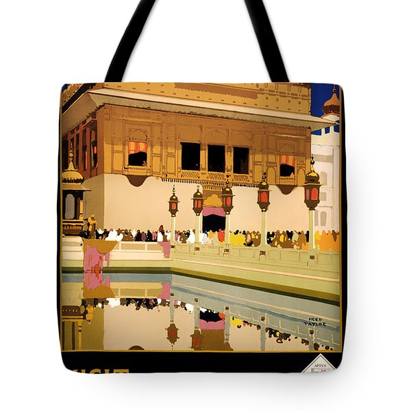 Vintage Travel Poster - Visit India 1935 Tote Bag