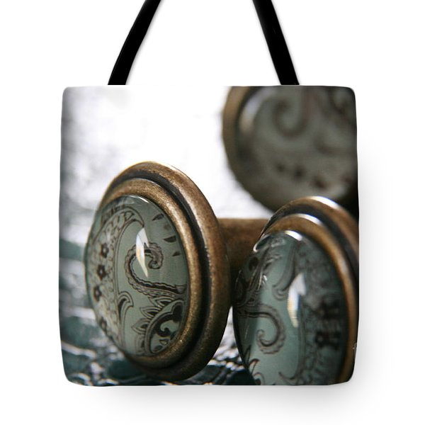 Tote Bag featuring the photograph Vintage Turquoise 3 by Lynn England