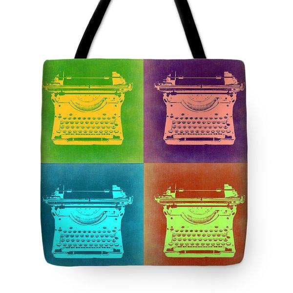 Vintage Typewriter Pop Art 1 Tote Bag