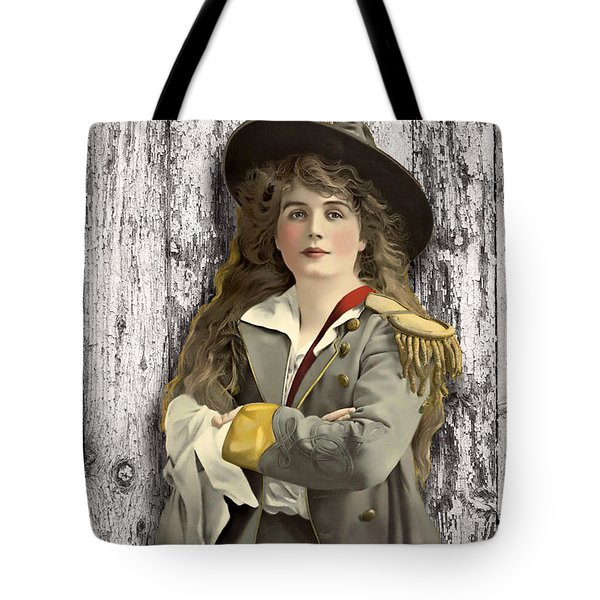 Vintage Woman In Uniform Tote Bag by Peggy Collins