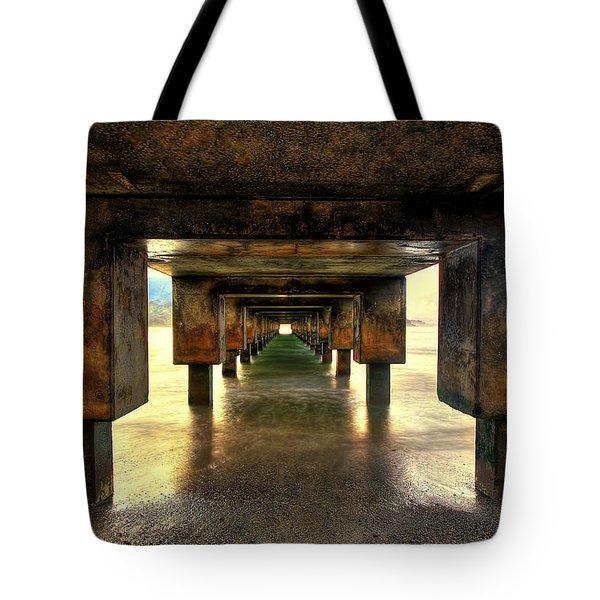 Vintaged Hanalei Pier  Tote Bag