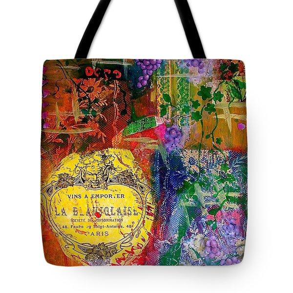 Vintner Label Tote Bag