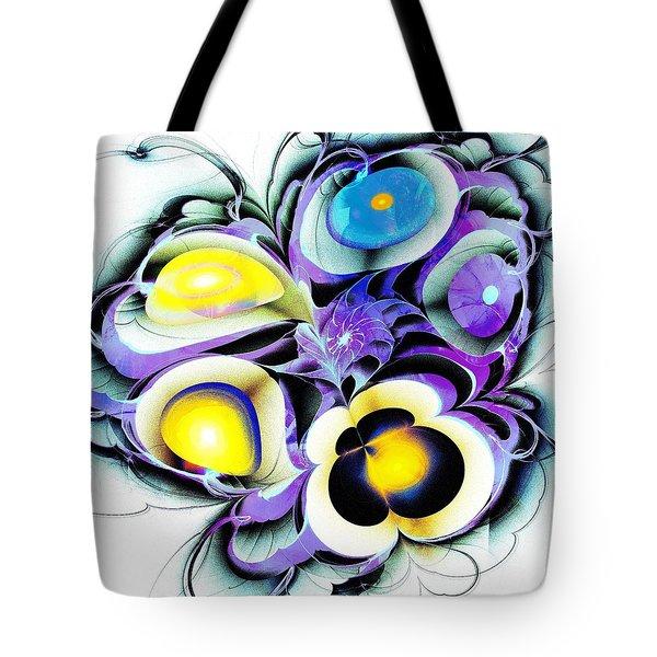 Viola Tricolor Tote Bag by Anastasiya Malakhova