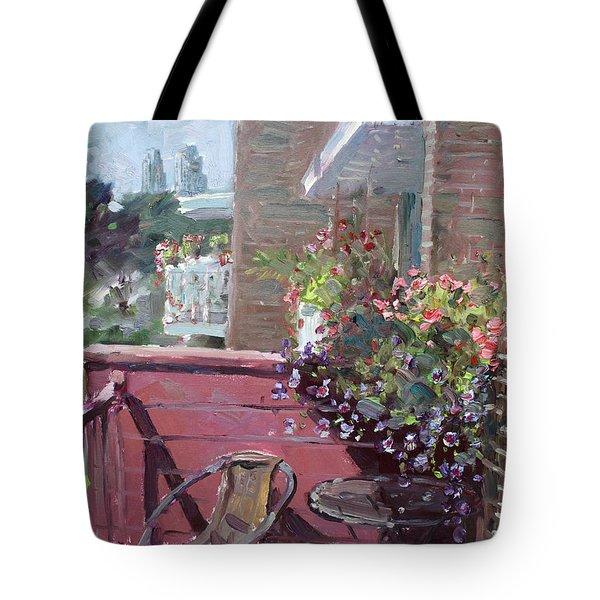 Viola's Balcony Tote Bag