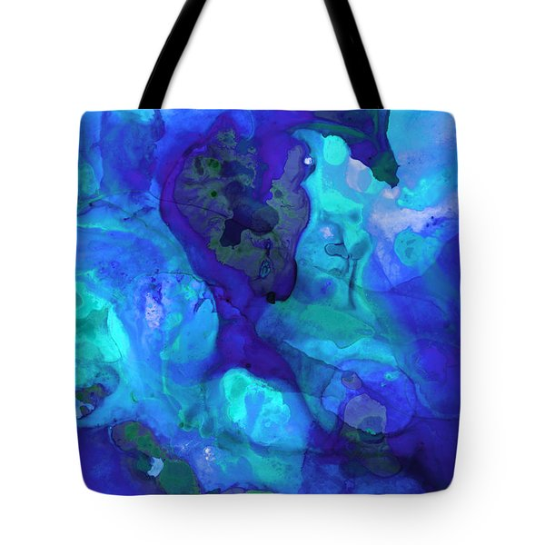 Violet Blue - Abstract Art By Sharon Cummings Tote Bag by Sharon Cummings