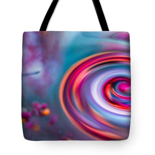 Violet Fall Blossom Collage Tote Bag by Hannes Cmarits