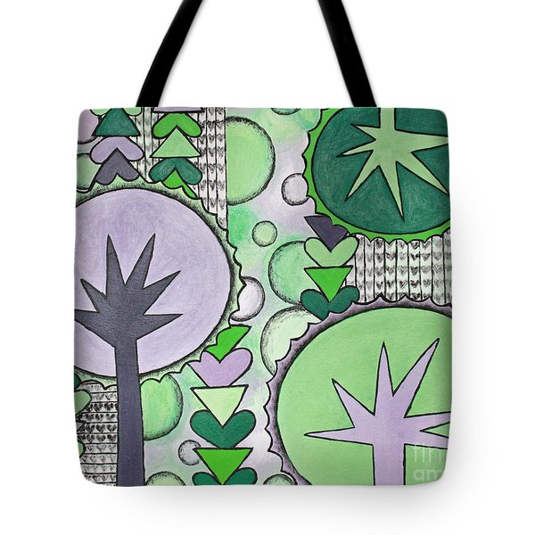 Violet-green Tote Bag by Home Art