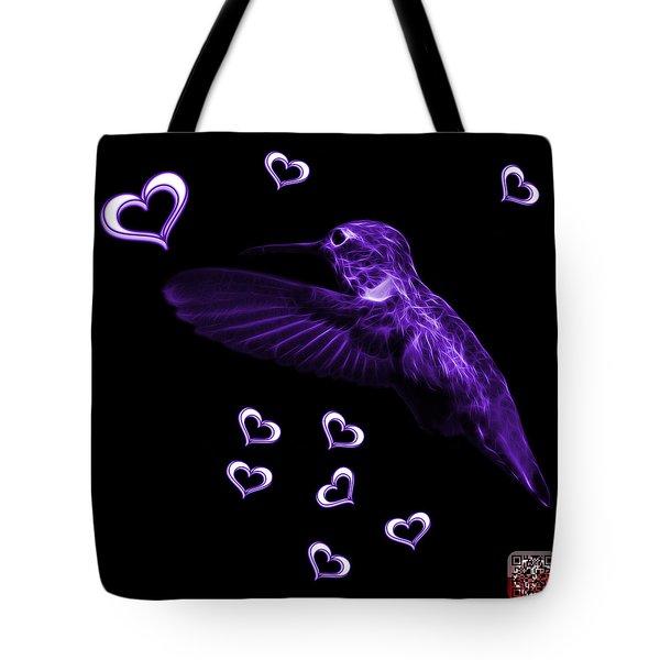 Violet Hummingbird - 2055 F M Tote Bag by James Ahn