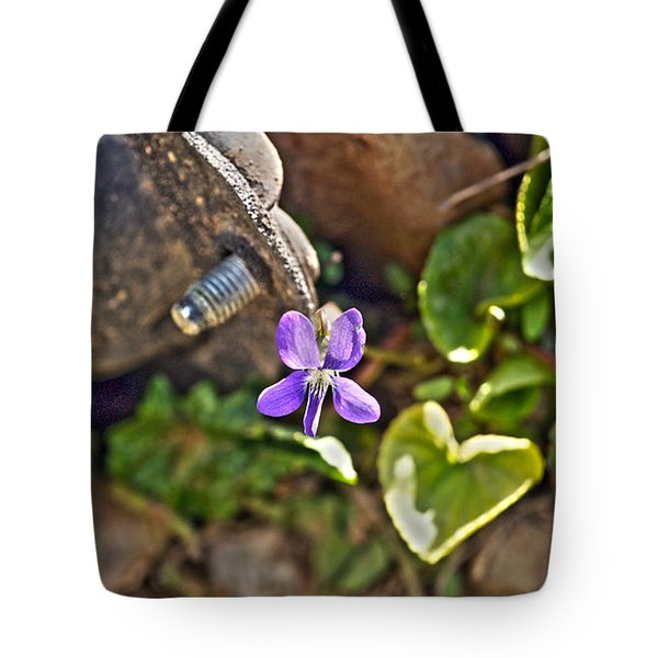Violet In The Rust Tote Bag by Crystal Harman