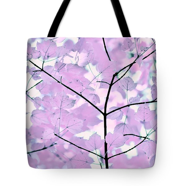 Violet Lavender Leaves Melody Tote Bag by Jennie Marie Schell