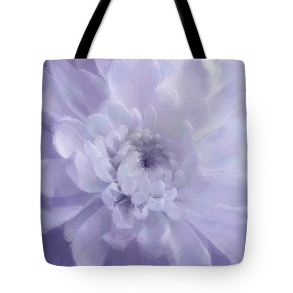 Violet Mum Luminous Painted Blossom Tote Bag