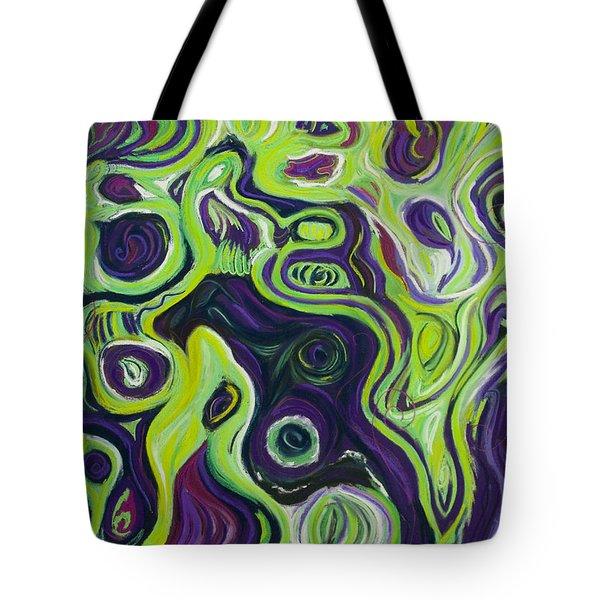 Violeta E Verde Tote Bag