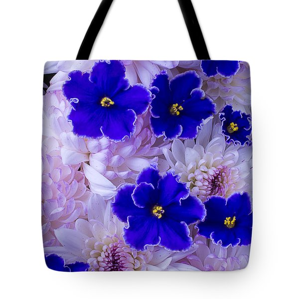 Violets And Mums Tote Bag