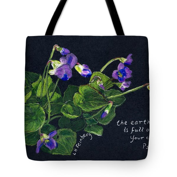 Violets And Psalm 104 Tote Bag