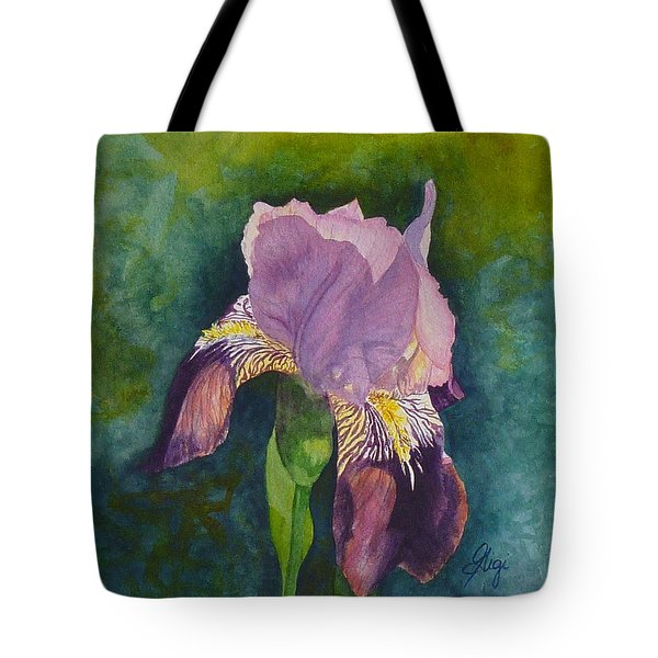 Tote Bag featuring the painting Violetta by Gigi Dequanne