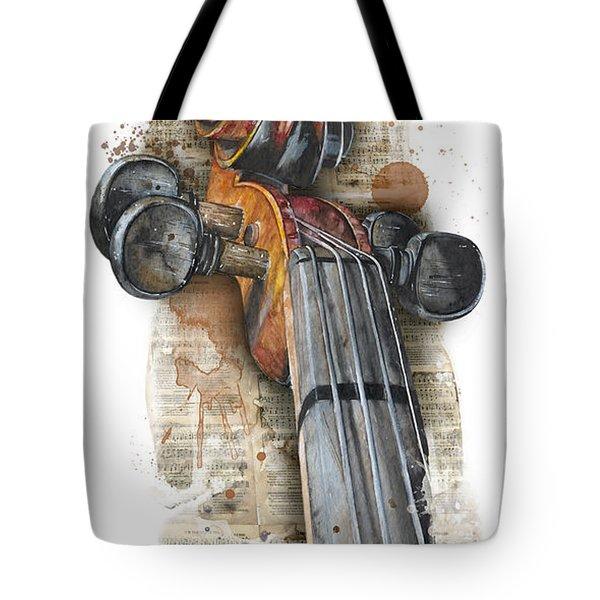 Violin 01 Elena Yakubovich Tote Bag
