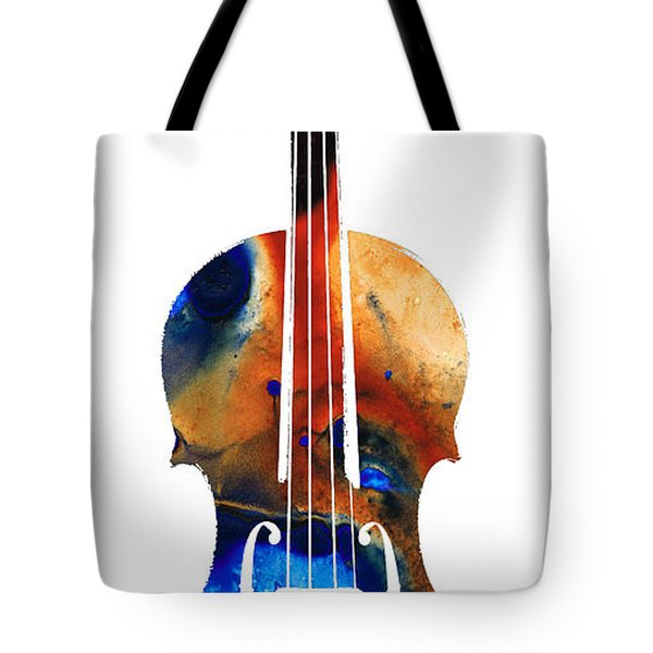 Violin Art By Sharon Cummings Tote Bag