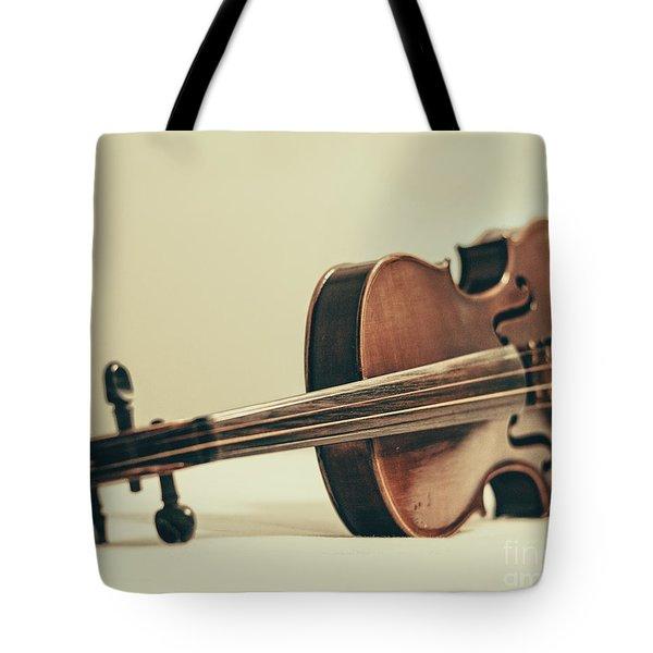 Violin Tote Bag by Emily Kay