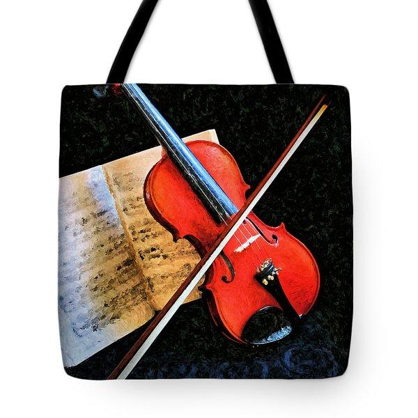 Violin Impression Redux Tote Bag