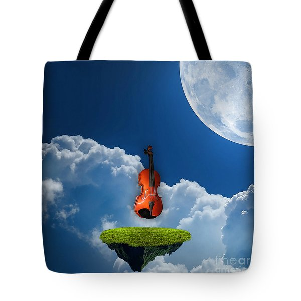 Violin In Heaven Tote Bag by Marvin Blaine