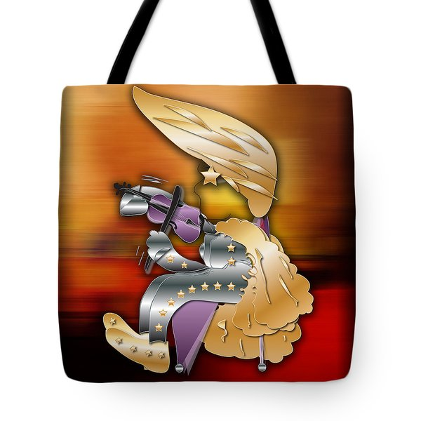 Tote Bag featuring the digital art Violin Player by Marvin Blaine