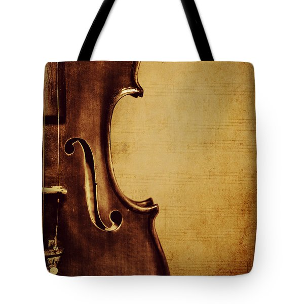 Violin Portrait  Tote Bag