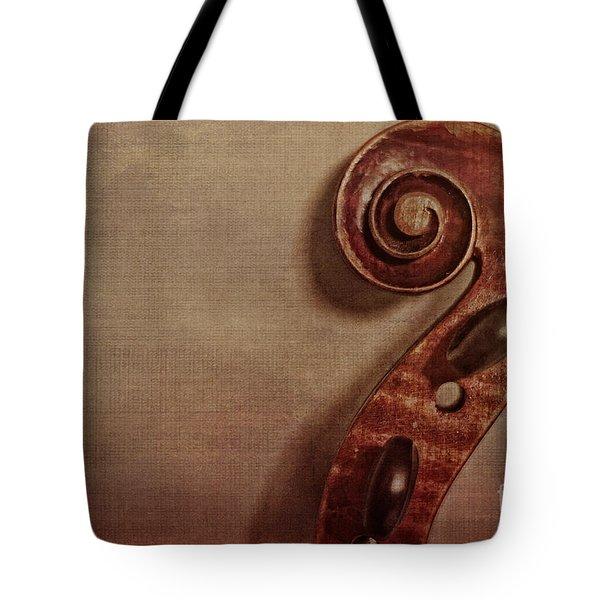 Violin Scroll Tote Bag