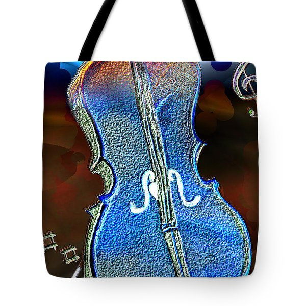 Tote Bag featuring the painting Violin Solo by Paula Ayers
