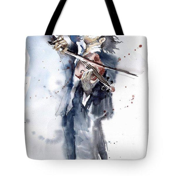 Violine Player 1 Tote Bag by Yuriy  Shevchuk