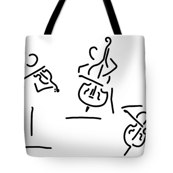Violinist Cellist String Player Contrabass Tote Bag
