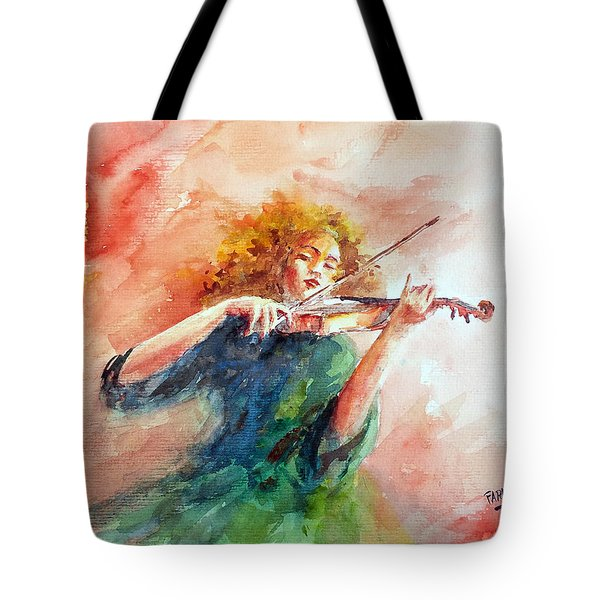 Violinist Tote Bag by Faruk Koksal