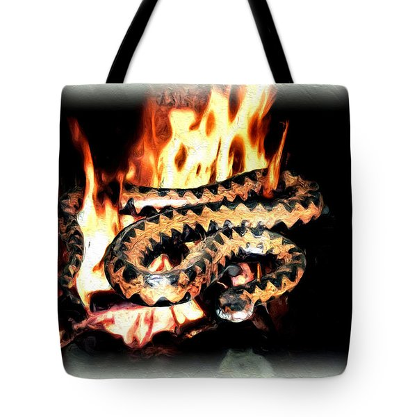 Tote Bag featuring the digital art Viper by Daniel Janda