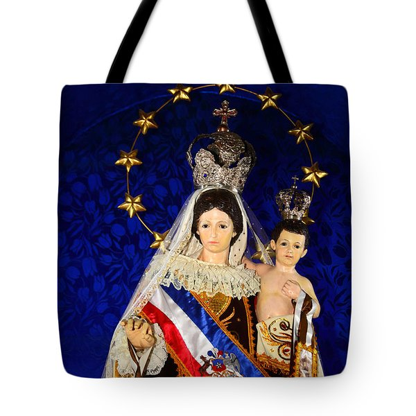 Virgen Del Carmen Close Up Chile Tote Bag
