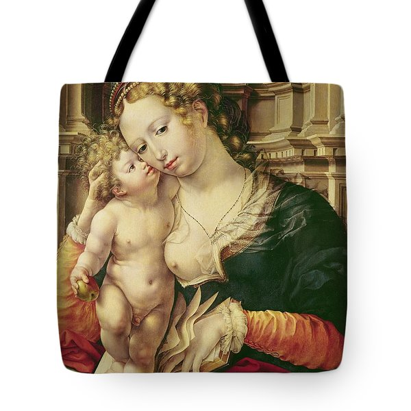 Virgin And Child Tote Bag by Jan Gossaert