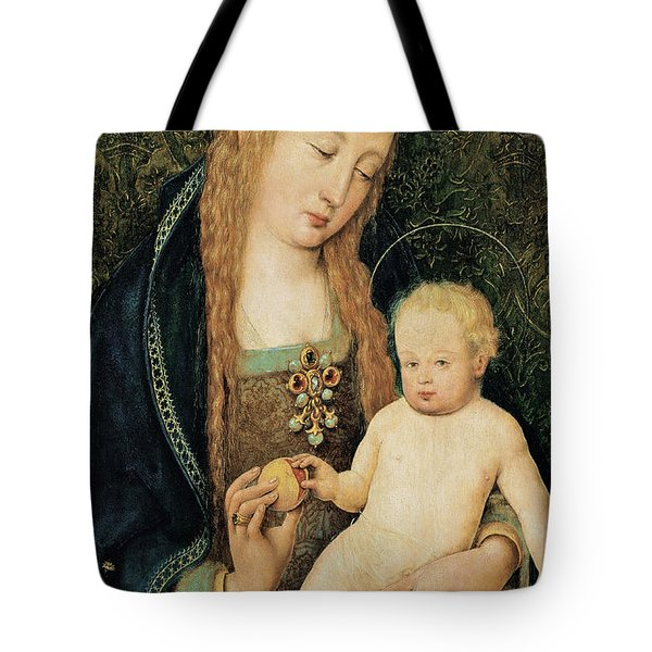 Virgin And Child With Pomegranate Tote Bag by Hans Holbein the Younger