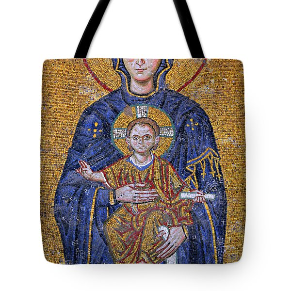 Virgin Mary And Christ Child Tote Bag by Stephen Stookey