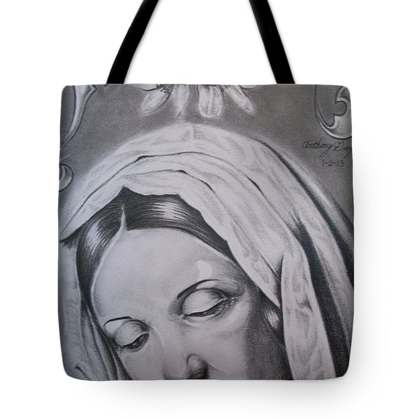 Virgin Mary Tote Bag by Anthony Gonzalez